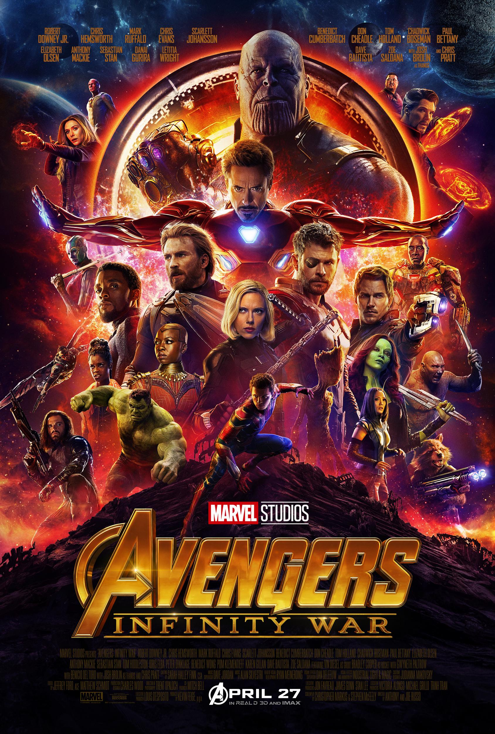 avengers infinity war poster high res