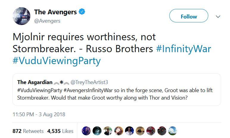 russo brothers tweet stormbreaker